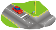 Diagram of a road intersection