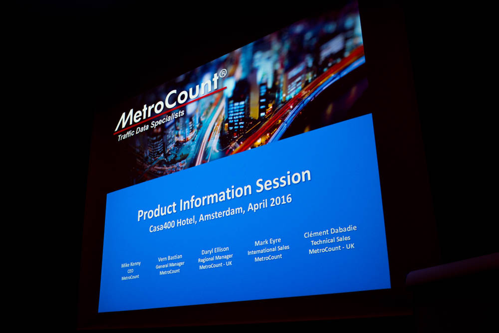MetroCount Product Information Session 2016