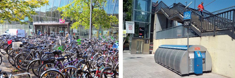 Infrastructure qui encourage le vélo