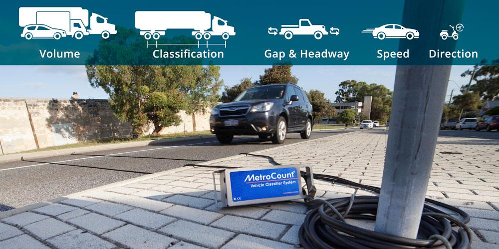 เครื่องมือนับปริมาณจราจร ชนิดท่อลม Road Tube Counter Traffic Data