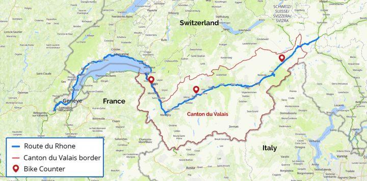Bike Counter sites in Canton du Valais