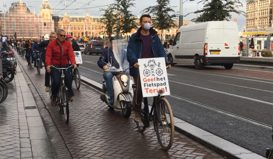 Protesting Moped use of Bike Paths
