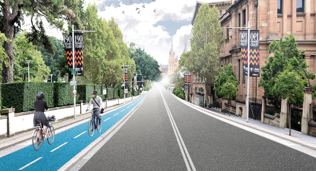 Proposed Sydney bike lane