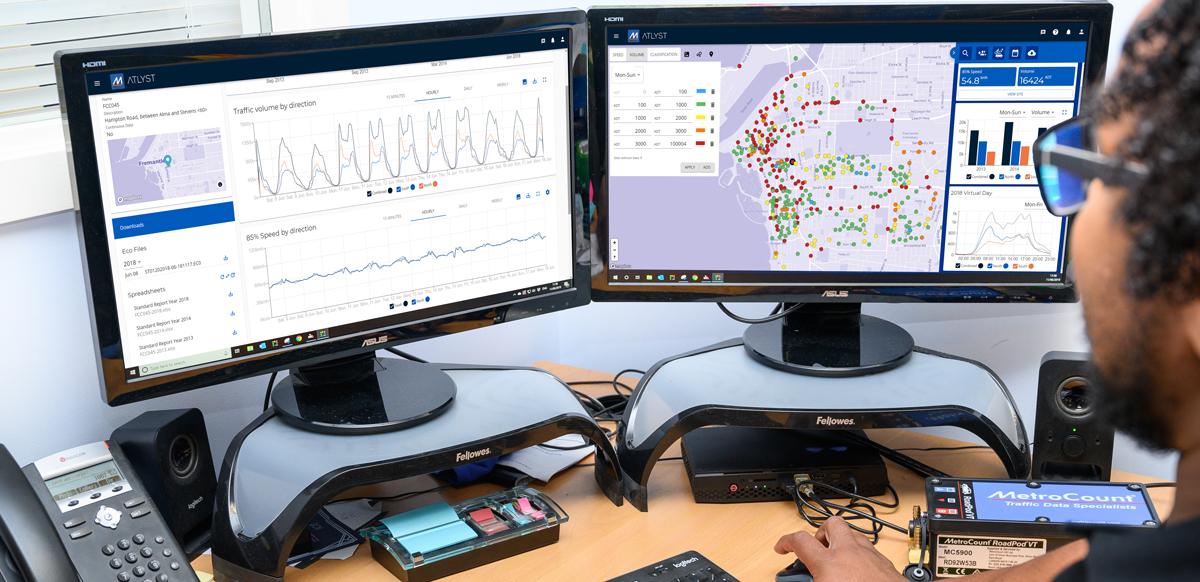 Road traffic analysis software